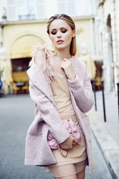 Nude and pale pink... love the style