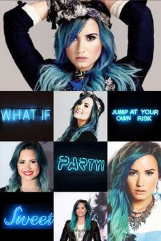 Wallpaper made by: @sell_maga Demi Lovato... blue theme