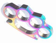 iridescent brass knuckles