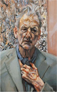 by Lucian Freud____  The veins in the hand and the folds/bags around the eyes.... I can't stop looking at this.  Incredible use of color and brush work...    Image detail for -sad news lucian freud one of the greats of british post war painting ...