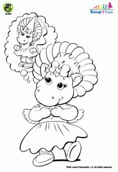 Barney And Friends Christmas Coloring Pages