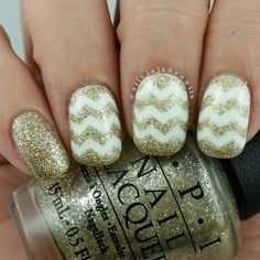 This weeks #wnac2015 is glitter patterns. Who can go past zig zags? Polishes used are ... | Use Instagram online! Websta is the Best Instagram Web Viewer!