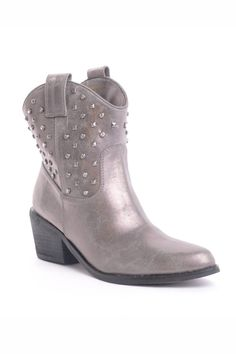 {Cowboy 03x Booties In Silver} Gomax
