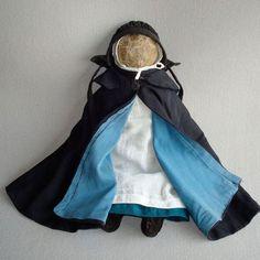 15-inch rag-stuffed cloth Amish doll, dated around 1900
