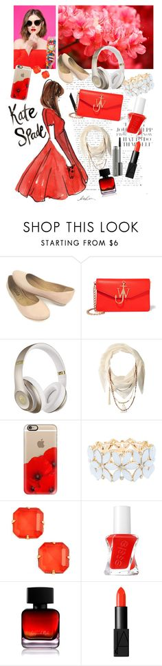 """Red"" by nerdyearthling7 ❤ liked on Polyvore featuring J.W. Anderson, Beats by Dr. Dre, BCBGeneration, Casetify, Charlotte Russe, Loren Hope, Essie, The Collection by Phuong Dang, NARS Cosmetics and MAC Cosmetics"