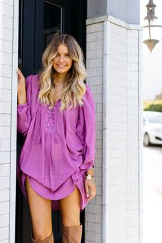 Love this top/tunic!! Gorgeous color! One of the few bright colors I wear. And obsess over! This is amazing. Love the uniqueness.