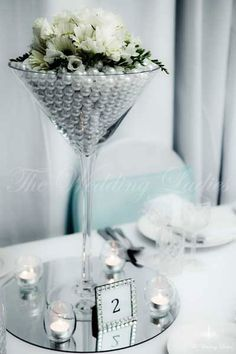 Martini Glass Centerpieces | Martini Vases 50cm Giant Martini Vase  Beautiful And Elegant .