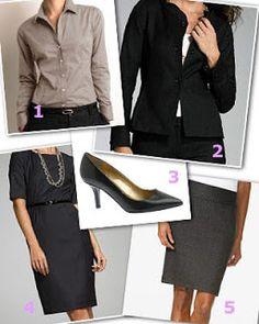 Basic Work Wardrobe for Women | ... Daily: Corporate Dressing Basics - 5 Fashion Tips For Office Women