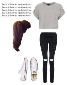 """Untitled #287"" by fangirlmuch on Polyvore featuring Topshop, Frame Denim and Converse"