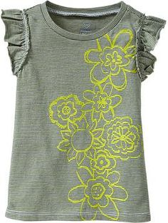 Printed Graphic Flutter-Sleeve Tanks for Baby | Old Navy