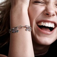 Pandora Me features micro dangle charms, bracelets and earrings. Millie Bobby Brown is the face of the campaign.