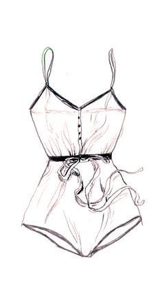 Lingerie Sketch - fashion illustration // Lucille Michieli