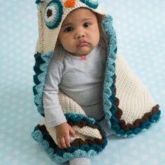 Owl Hooded Blanket @melie62 @lenny