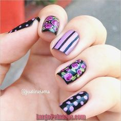 top 32 cutest mismatched nail designs Amazing Mismatched Nail Art Designs Trends Ideas what regarding mismatched nails?Some are insanely random however additional typically than not, their beauty lies in however the variable nail art for eve Beautiful Nail Designs, Cute Nail Designs, Beautiful Nail Art, Spring Nail Art, Spring Nails, Autumn Nails, Get Nails, Hair And Nails, Karma Nails