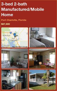 3-bed 2-bath Manufactured/Mobile Home in Port Charlotte, Florida ►$87,900 #PropertyForSale #RealEstate #Florida http://florida-magic.com/properties/7112-manufactured-mobile-home-for-sale-in-port-charlotte-florida-with-3-bedroom-2-bathroom