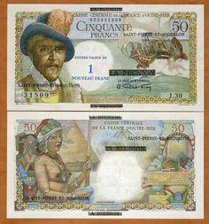 St Pierre Miquelon 1 Nouveau Franc on 50 1960 P 30B aUNC UNC   eBay