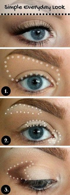 15 Gorgeous Makeup Looks for Blue Eyes (I have green eyes, but this is a great guide for natural application)