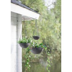 Set van drie plantenhangers, ib laursen bloempot, grijs, set van 3 -(re)Pinned by storyplanter.com