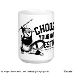 Your Custom 15 oz Classic White Mug panda. Regalos, Gifts. Producto disponible en tienda Zazzle. Tazón, desayuno, té, café. Product available in Zazzle store. Bowl, breakfast, tea, coffee. Link to product: http://www.zazzle.com/po_ping_choose_your_own_destiny_two_tone_coffee_mug-168369166328082324?style=basic_mug&color=white&view=113138971069713605&CMPN=shareicon&lang=en&social=true&rf=238167879144476949 #taza #mug #oso #panda #bear