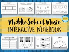 This interactive music notebook is a great tool for assessing middle school (5th and 6th grade) music students while encouraging creativity and ownership of learning. This file can be used in a variety of ways, including as traditional interactive notebook pages, worksheets, assessments, differentiated activities, evidence of learning, and more!Save money with the bundles.