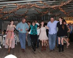 Dancing in Schneider Hall in Colorado County, Texas.