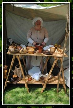 Medieval kitchen set up - courtesy of Douggiethwood.co.uk