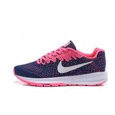 Newest Nike Air Zoom Structure 20 Womens Blue Pink Running Shoes Free Running Shoes, Pink Running Shoes, Nike Air Zoom Pegasus, New Nike Air, Nike Free, Sneakers Nike, Blue, Nike Tennis