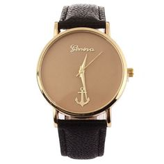 New ladies fashion watch With Anchors Pattern Leather Band Quartz geneva watch Female Form Large Dial dames horloges Elegant Watches, Casual Watches, Cool Watches, Watches For Men, Women's Watches, Citizen Watches, Anchor Watch, New Ladies Fashion, Fashion Women