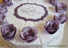 Stempelitis, Papiertorte, Paper Cake, Stampin up, Hochzeit