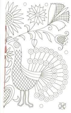 Hungarian(Kalotaszegi) Flowers embroidery patterns
