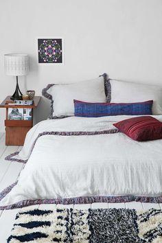 Magical Thinking Bala Yarn-Dyed Sham Set (beds on the floor Dream Bedroom, Home Bedroom, Bedroom Decor, Bedroom Ideas, Bedroom Stuff, Duvet Covers Urban Outfitters, Rooms Home Decor, Magical Thinking, Interior Design Inspiration