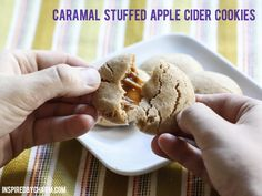 Ack -- these look so good!: Caramel Stuffed Apple Cider Cookies // Fall Cookie Week