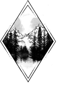Without the mountains and with a moon - Natur-Tattoos - Tatoo Ideen Natur Tattoos, Kunst Tattoos, Tattoo Drawings, Body Art Tattoos, New Tattoos, Sleeve Tattoos, Sketch Tattoo, Hard Tattoos, Guy Back Tattoos