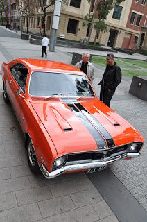 Industrial Design in Victoria Australia: Phillip Zmood - GTS Monaro on campus at RMIT Australian Muscle Cars, Aussie Muscle Cars, Chrysler Valiant, Holden Monaro, Victoria Australia, I Cool, Ford Gt, Car Brands, Car Manufacturers