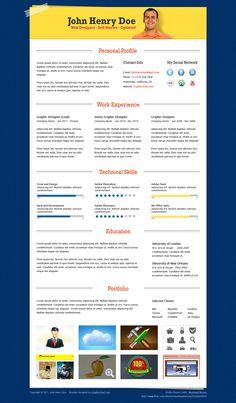 25 Awesome CV Templates and Examples 7 25 Creative CV Templates that Will Make…