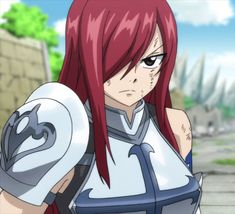 Erza Scarlet - Fairy Tail Final Series episode 35 by Berg-anime Anime Fairy Tail, Fairy Tail Funny, Fairy Tail Girls, Fairy Tail Art, Fairy Tail Ships, Fairy Tales, Anime Couples Manga, Cute Anime Couples, Anime Girls