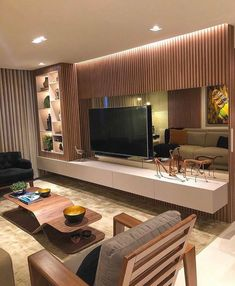 Wall Unit Designs, Living Room Tv Unit Designs, Tv Wall Design, Bar Designs, Home Theater Design, Home Design Decor, Home Interior Design, Home Decor, Living Room Partition