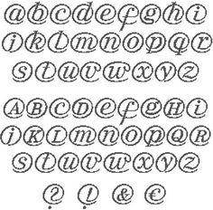 Alphabet à broder au point de croix. Retrouvez le diagramme gratuitement ici [http://www.archive-host.com/count-2122895-Web-addict.pdf]