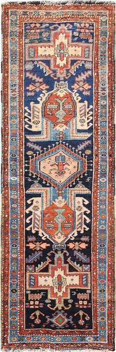"More Pins Like This One At FOSTERGINGER @ PINTEREST No Pin Limitsでこのようなピンがいっぱいになるピンの限界  Persian Heriz runner, 3' 4"" x 10' 0"", J.H. Minassian gallery"