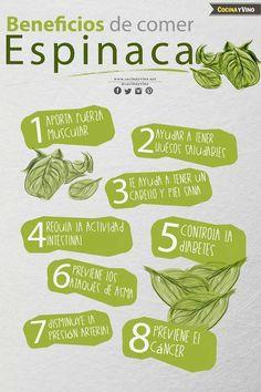 #Beneficios #Espinaca