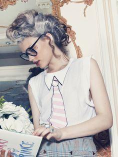 gray grey silver salt and pepper fashion editorial hair