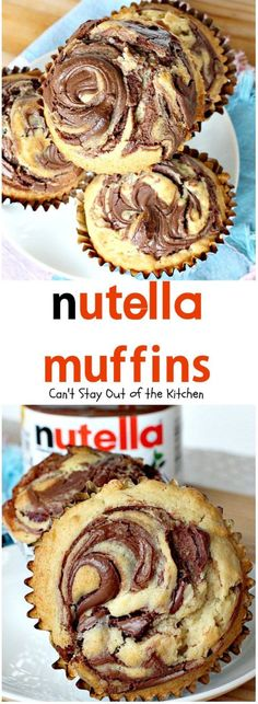 These fabulous muffins are so heavenly you won t want to stop eating them. Nutella spread is swirled into muffin batter making for a delicious special or holiday breakfast!Most Populer Reviews From allrecipes.comReview 1: quot;Oh my goodness!!