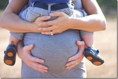 Family maternity pic! I am going to try this..Kylie is a little bigger so idk if it will work.