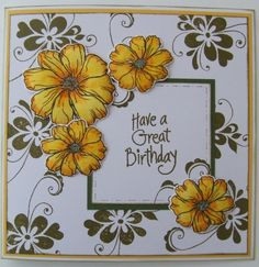 This card was made at a craft day at Hobby Art earlier this year.  Made with wonderful Hobby Art stamps. If you live close enough, go to one of their craft days - they are well worth it.