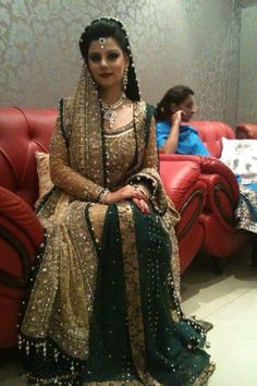 Beautiful desi bride, bridal dress Pakistani