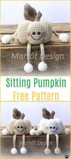 Crochet Sitting Pumpkins Free Pattern -Crochet Halloween Amigurumi Free Patterns