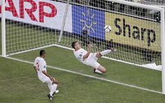 John Terry 'clears off the line'