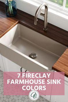 Black Farmhouse Sink, Fireclay Farmhouse Sink, Fireclay Sink, Farmhouse Sink Kitchen, Kitchen Sinks, Shabby Chic Kitchen, Modern Farmhouse Kitchens, Industrial Style Kitchen, Modern Kitchen Design