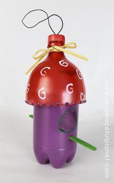 pop bottle bird feeders | Crafty Bird Feeder From Soda Bottles