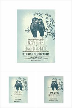 Owls in Love Wedding Collection